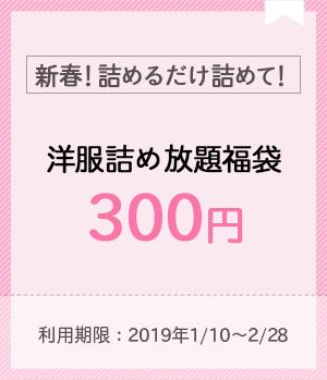 【なくなり次第終了!】詰め放題福袋300円で販売中!